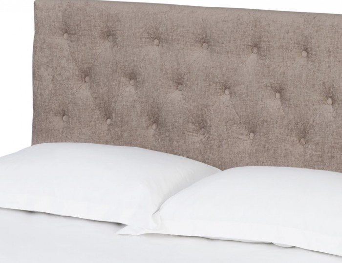 Darcy Mink Upholstered Bed Frame