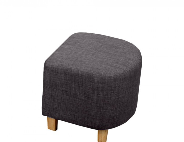 Falkirk Charcoal Linen Fabric Tub Chair and Stool