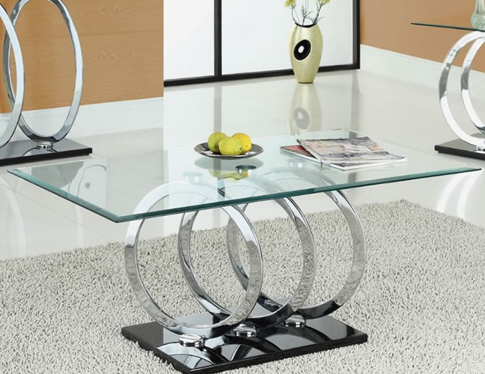 Athens Clear Glass Coffee Table