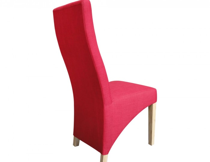 Tenterden Red Linen Fabric Dining Chairs