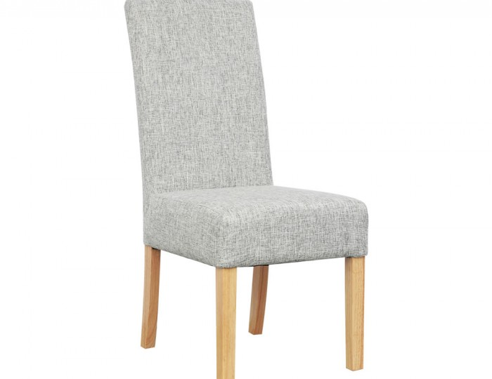 waycross grey weave linen fabric dining chairs