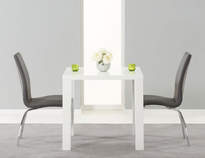 Earlham Small White High Gloss Dining Table and Chairs