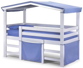 Coral Kids Hideout Mid-Sleeper Bed
