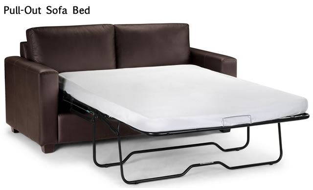 Baja Convert-A-Couch Sofa Bed, Dark Brown