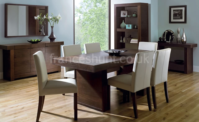 Akita Black Walnut Living Dining Room Furniture