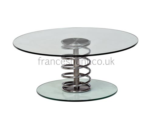 Round Coffee Table with Glass