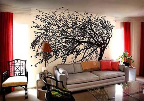 Wonderful Tree Wall Mural Living Room Designs 500 x 350 · 41 kB · jpeg
