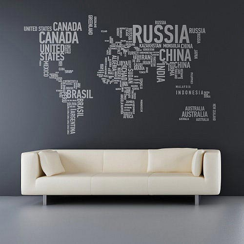 10 awe inspiring feature walls frances hunt typography wall map gumiabroncs Choice Image