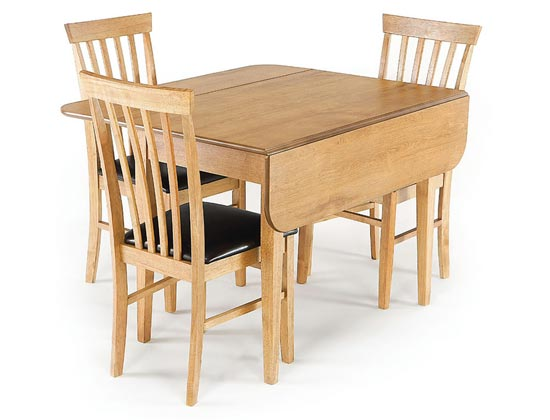 Augustine Drop Leaf Dining Table and Chairs