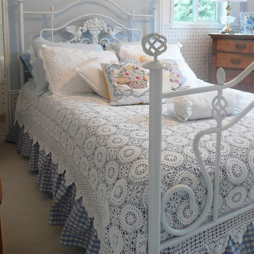 white curved steel bed frame wake up in a country style bedroom this xmas frances