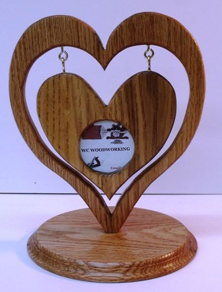 Heart-in-heart picture frame