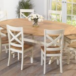 Rivoli Oak and Cream Extending Table and Chairs