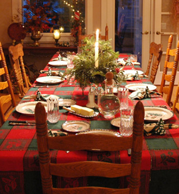 dining table christmas decorations