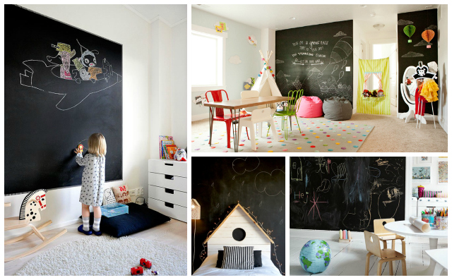 Chalkboard Wall in kids room