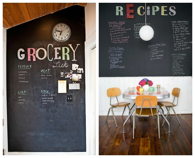 Chalboard in Dining Room and Kitchen