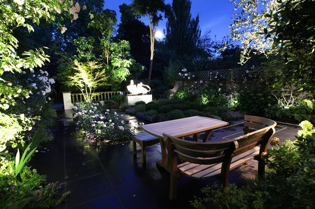 Garden design lighting