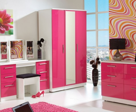 pink and white gloss bedroom furniture how to use bold accent colours frances hunt 20762