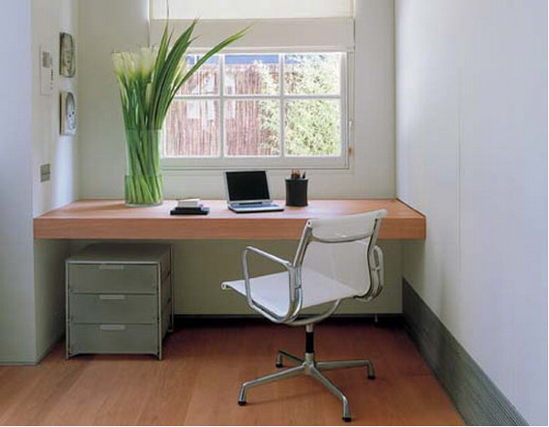 How to create a minimalist home office frances hunt - Creating a small home office ...