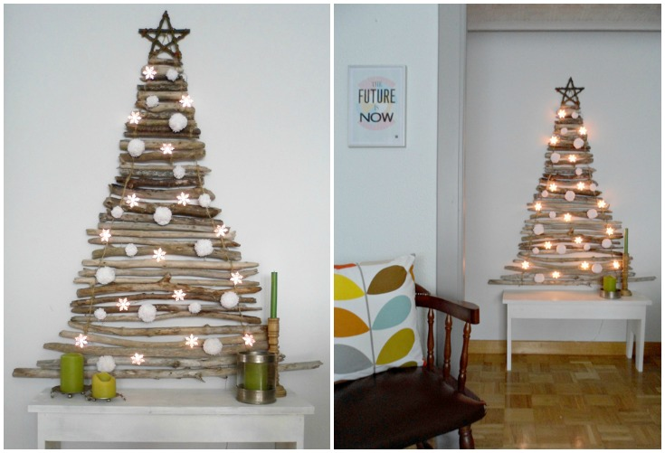 10 creative christmas tree ideas for small spaces Big christmas tree small space