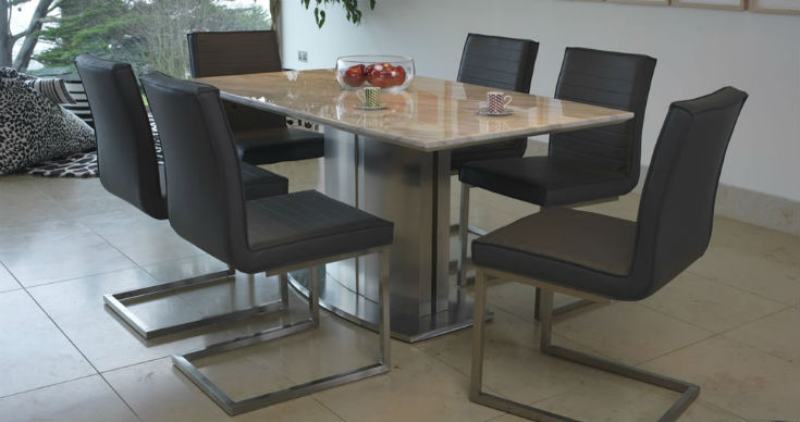 Exeter Marble Dining Table