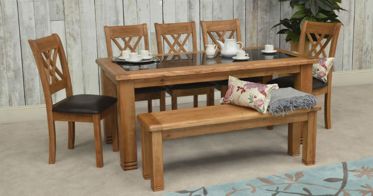 Bench and Dining Chairs
