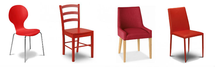 Same Colour Mismatched Chairs