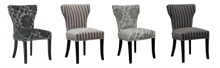 Upholstered Mismatched Chairs