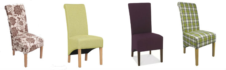 Upholstered & Solid Mismatched Chairs
