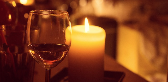 Candle Lit Wine