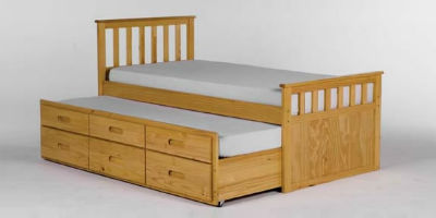 some designs of guest beds even have space for storage beneath the trundle bed itself in the way of drawers this means that not only can you sleep two