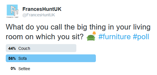 Sofa vs Couch vs Settee: Poll