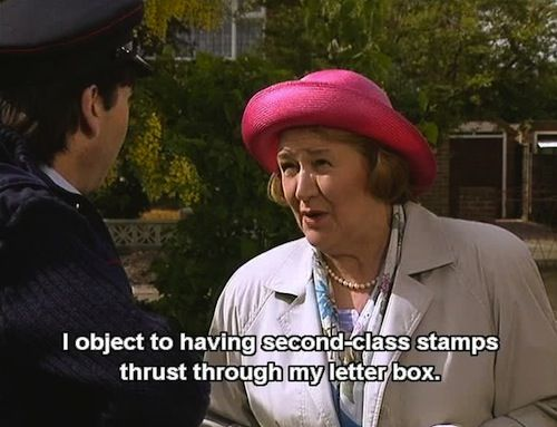 Hyacinth Bucket on Keeping Up Appearances